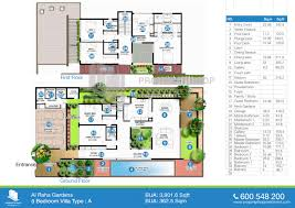house plans 5 bedroom floor plan of al mariah al raha gardens