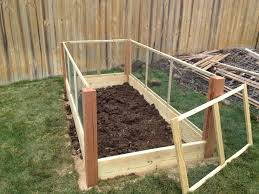 Rabbit Beds Amazing Decoration Raised Garden Bed With Fence 2 Two Raised