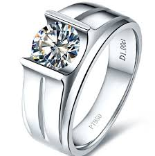 men rings platinum images Durable 1ct nscd lovely diamond rings for men 925 sterling silver jpg