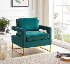 Velvet Accent Chair Velvet Accent Chair In 4 Color Options Velvet With Gold Stainless
