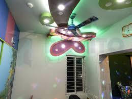home design butterfly based false ceiling design for kids bedroom