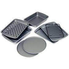 Toaster Oven Dimensions Bakereze 8 Piece Non Stick Toaster Oven Bakeware Set Walmart Com