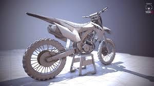 motocross bike game honda crf450f 3d model electrocactus