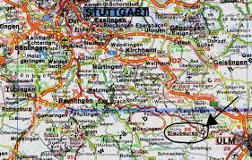 Map Of Stuttgart Germany by Blaubeuren Maps