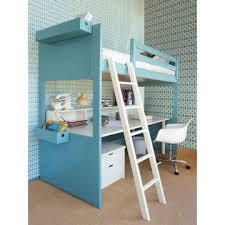 lit surélevé avec bureau lit mezzanine liso avec bureau bambins déco