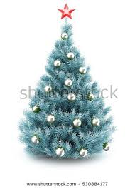 blue tree silver balls garland stock vector 331386371