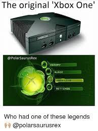 Xbox One Meme - the original xbox one polarsaurusrex memory music xbox live
