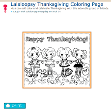 thanksgiving lalaloopsy coloring page http www nickjr