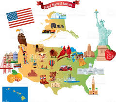 Iowa Map Usa by Cartoon Map Of Usa Stock Vector Art 472379627 Istock