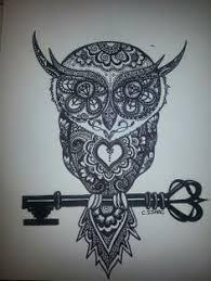 cross stitch modern art by sandra vargas u0027owl key u0027 owl