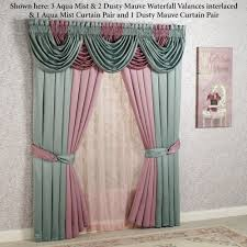 Valances Window Treatments by Oasis Waterfall Valance Grommet Window Treatment Valance Oasis