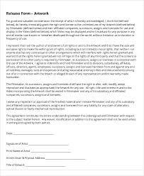 artwork release form artist release form