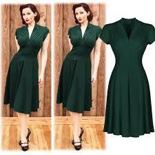1940s dresses aliexpress buy fashion vintage retro women dress 1940s