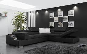 canape d angle noir canapé d angle cuir genova xl canapé d angle noir en cuir 5