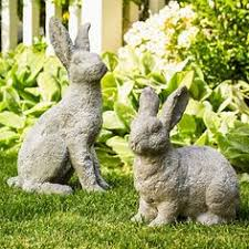 white rabbit garden statue a touch of in the garden