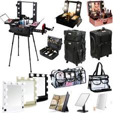 Make Up Vanity Case Beauty Trolley Makeup Vanity Case Beauty Box Clear Bag Lighted