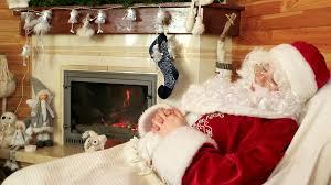 resting santa sweet dreams old tired saint nicolas snoozing