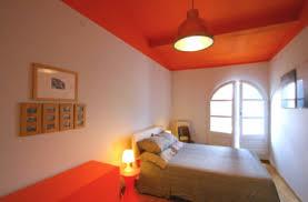 deco chambre orange tendance couleurs chambre peinture orange sur plafond et sol