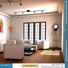 Howard Miller Chiming Mantel Clock Howard Miller Contemporary Quartz Floor Clock Tennille Nickel