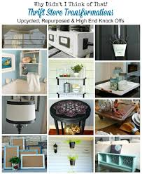 thrift store diy home decor why didn t i think of that 15 upcycled repurosed thrift store