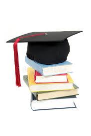 graduation books graduation cap on stack of books stock photo image of books