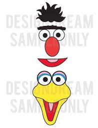 7 images sesame street face templates printable sesame