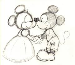 old fashioned mickey and minnie drawing google search posters
