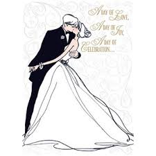 Groom And Groom Wedding Card Bride And Groom Line Drawing Wedding Card Polyvore