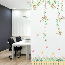 wall ideas cute wall decor cute wall decorations for dorm rooms cute wall decals for dorms cute wall ideas with pictures cute cartoon monkey green vine pvc wall stickers removable nursery room kids rooms bedroom