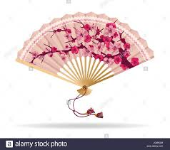 japanese fan japan cherry blossom folding fan vector illustration japanese fan