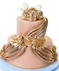 wedding cakes pastry palace las vegas cake 1221 gold satin