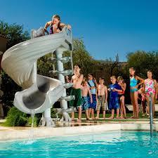 backyard pool water slide back deck plans pinterest pool