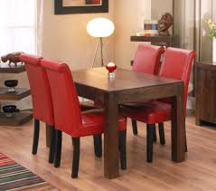 Red Dining Room Table Red Fabric Tablecloth Small Dining Room Round Table Wooden