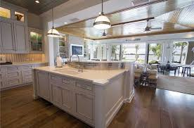 cottage kitchen island cottage kitchen with flat panel cabinets limestone counters in