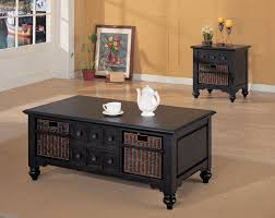 black coffee table with storage end tables with storage baskets new farmhouse side table tags