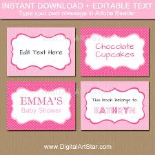 editable pink buffet cards printable labels tent cards pink