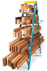 Wood Magazine Ladder Shelf Plans by Ladder Lumber Rack Lumber Rack Organizing And Board