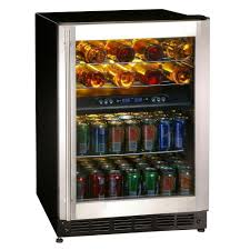 Glass Door Bar Fridge For Sale by Wine Beverage U0026 Keg Coolers Appliances The Home Depot