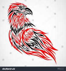 eagle tribal tattoo red black stock vector 67303759 shutterstock