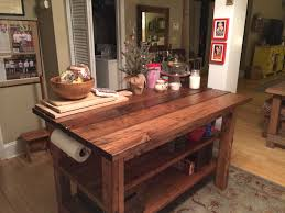 kitchen island wooden rustic kitchen island with gray rug