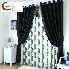 Blackout Curtains Black Black Curtains Living Room Black Customized Blackout