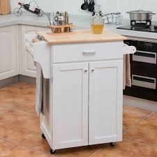 white storage cabinet for kitchen rolling kitchen island cart storage cabinet with spice rack white kc50278wh