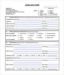 complaint forms template customer complaint form template sample