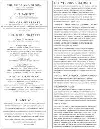 exle of wedding programs orthodox wedding program wedding ideas 2018
