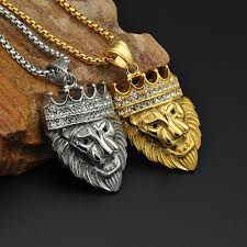 titanium stainless steel necklace images Empire titanium stainless steel lion head pendant wear your truths jpg