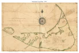 Massachusetts Colony Map by Old Town Maps Of Nantucket