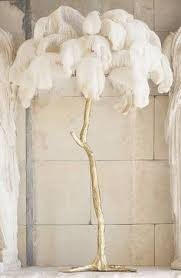 ostrich feather l shade ostrich feather and gold floor l harrods glamorous lighting