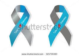 diabetes ribbon color gray blue ribbon blood drop symbol stock vector 321735383