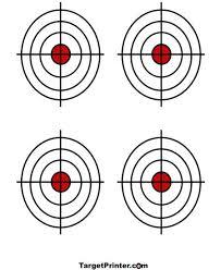 printable shooting targets pdf printable shooting targets 11 17 printable target 4 small bullseye