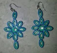 quilling earrings images flower design quilling earrings buy quilling earrings online